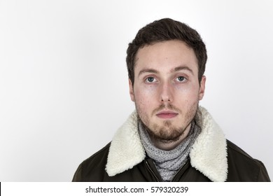 portrait of handsome young man with beard
