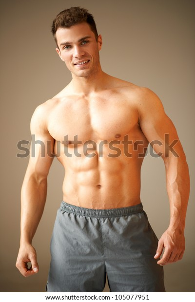 Handsome Young Bodybuilder Stock Photo - Download Image