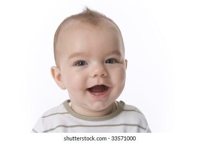 Portrait of a happy baby boy