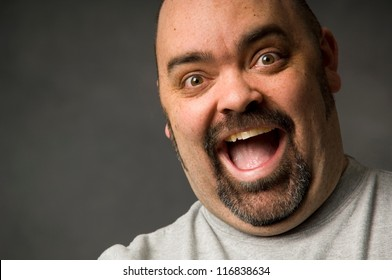 Portrait of a happy bald man