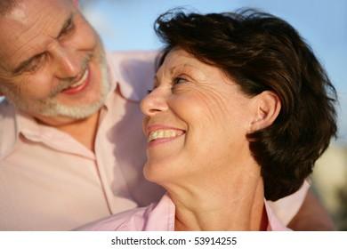 Portrait of a happy couple of seniors