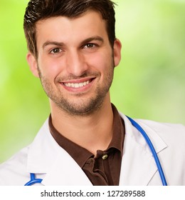 Portrait Of Happy Doctor, Outdoors