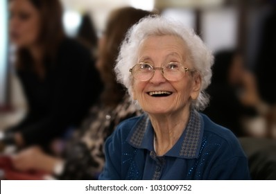 478509196f portrait of an happy elderly woman smiling