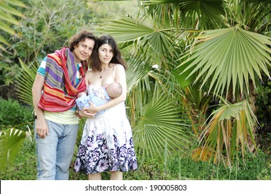 Portrait of happy family outdoor