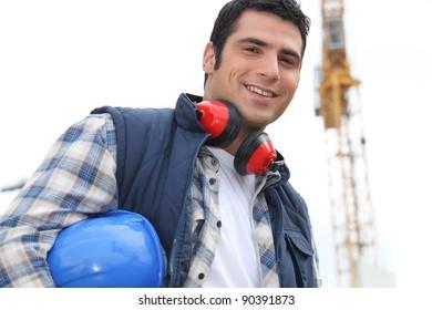 Portrait of happy foreman