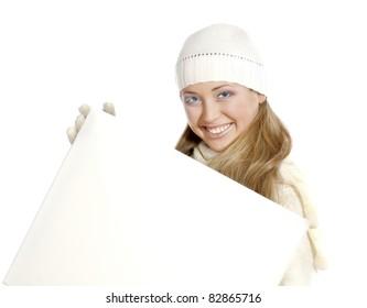 Portrait happy girl