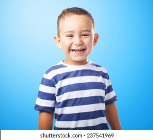 portrait of a happy kid smiling and having fun