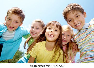 Portrait of happy kids representing youth and fun