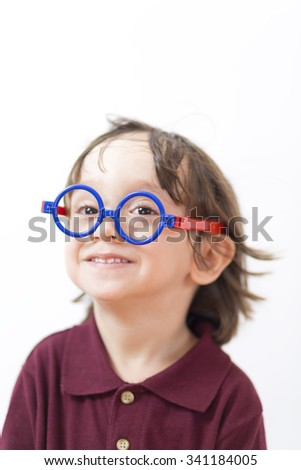 a8dc81b8c7 Portrait Happy Little Boys Wearing Eyeglasses Stock Photo (Edit Now ...