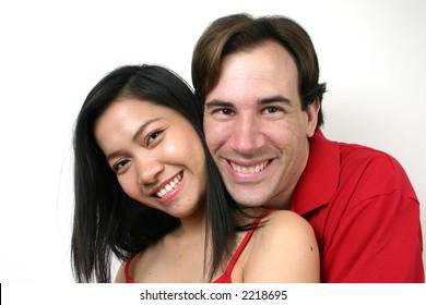 Portrait of happy lover.