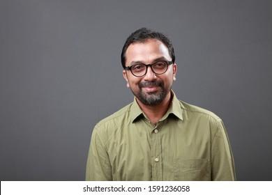 Portrait of a happy man of Indian origin