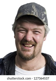 Portrait of a happy manual worker with baseball cap