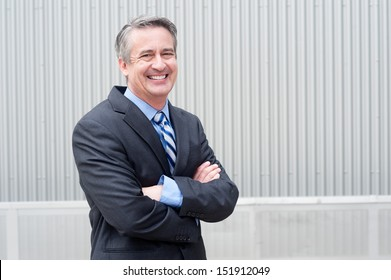 portrait of a happy mature businessman