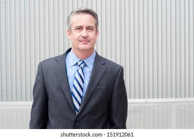portrait of a happy mature businessman
