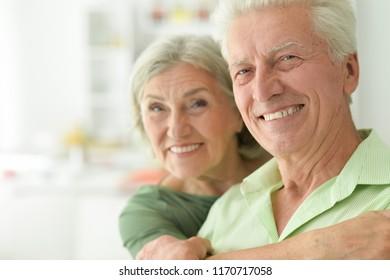 Portrait of a happy mature couple smiling