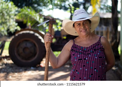 Portrait of happy mature woman in farm