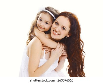 Portrait of happy mother and daughter together
