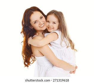 Portrait of happy mother and loving little daughter