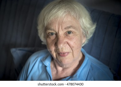 Portrait of a happy old woman