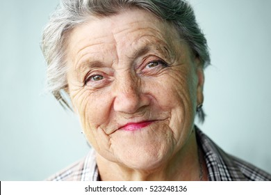 Portrait of happy old woman