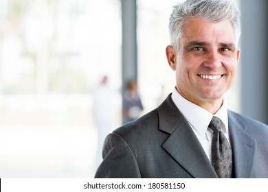 portrait of happy senior business man