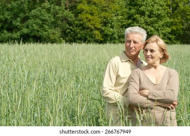 Portrait of a happy senior couple relaxing