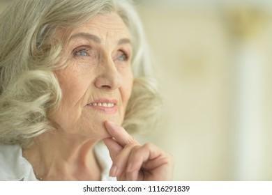 Portrait of happy senior woman