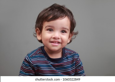 Portrait of a happy smiling baby boy