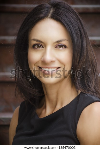 Portrait of a happy smiling beautiful woman.
