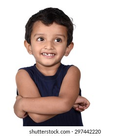 Portrait of a happy smiling boy. Expression of kid.