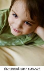 Portrait of happy smiling cute little boy