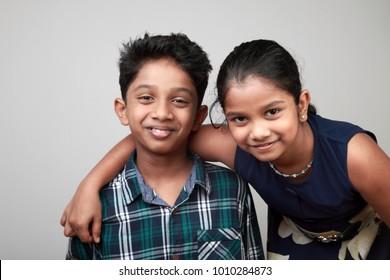 Portrait of happy smiling kids