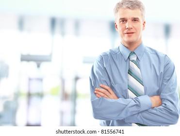 Portrait of a happy successful mature business man