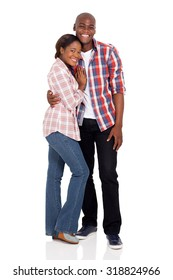 portrait of happy young african american couple