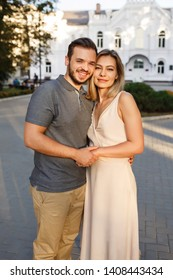 Portrait of happy, young and beautiful couple in love