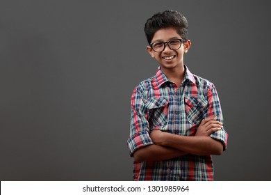 Portrait of a happy young boy of Indian origin