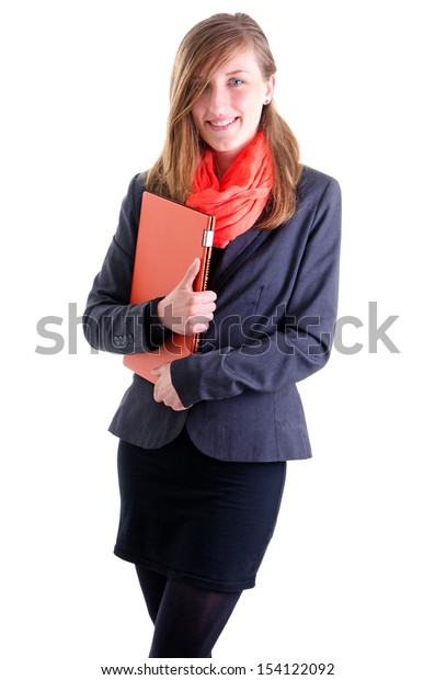 Portrait of happy young business women