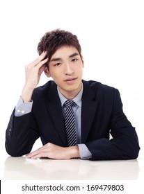 portrait of happy young businessman-close up