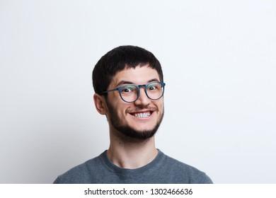 dad7f97fbfb8 Men Asian Wear Glasses Smile Men Stock Photo (Edit Now) 690966388 ...