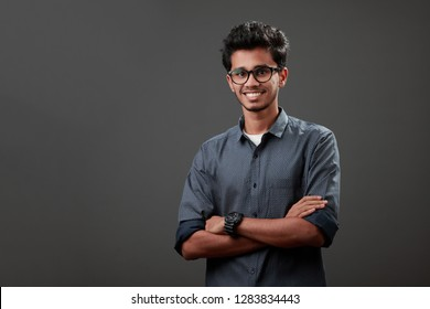 Portrait of a happy young man of Indian origin