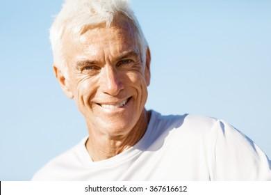 Portrait of healthy senior man