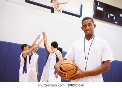 Portrait Of High School Basketball Coach