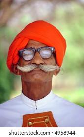 Portrait of a Hindu man.