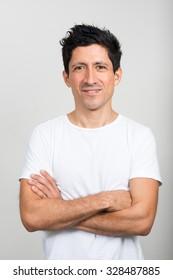 Portrait of Hispanic man
