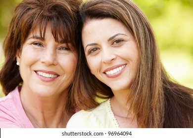 Portrait Hispanic mother and adult daughter