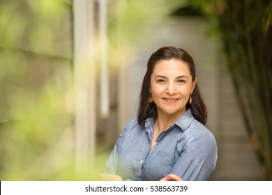 Portrait of a hispanic woman.