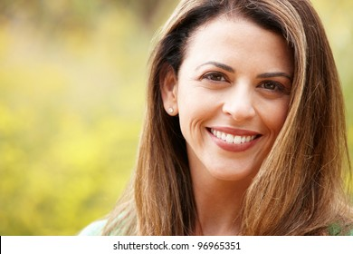 Portrait hispanic woman outdoors