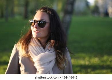 Portrait of a Hispanic woman at sunset