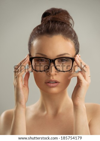 With glasses girls Hot sexy naked