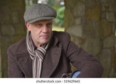 Portrait image of a mature man outdoors